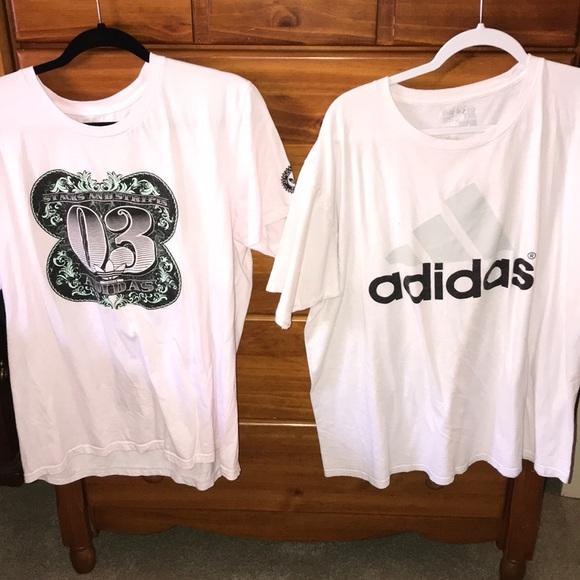 adidas Other - Adidas Shirt Lot of 2 Money & Adidas Logo Size XL